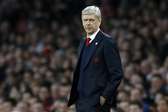 Arsenal's French manager Arsene Wenger looks on from the touchline during the English FA cup quarter final match between Arsenal and Lincoln City at The Emirates Stadium in London on March 11, 2017 (AFP Photo/Ian KINGTON)