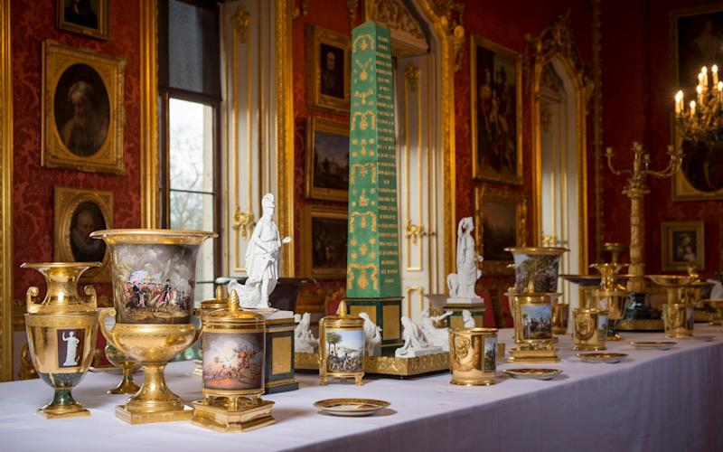 Wellington's dining service is to go on show in Apsley House as it was intended to be used - Geoff Pugh Photography Ltd Telegraph Media Group Ltd