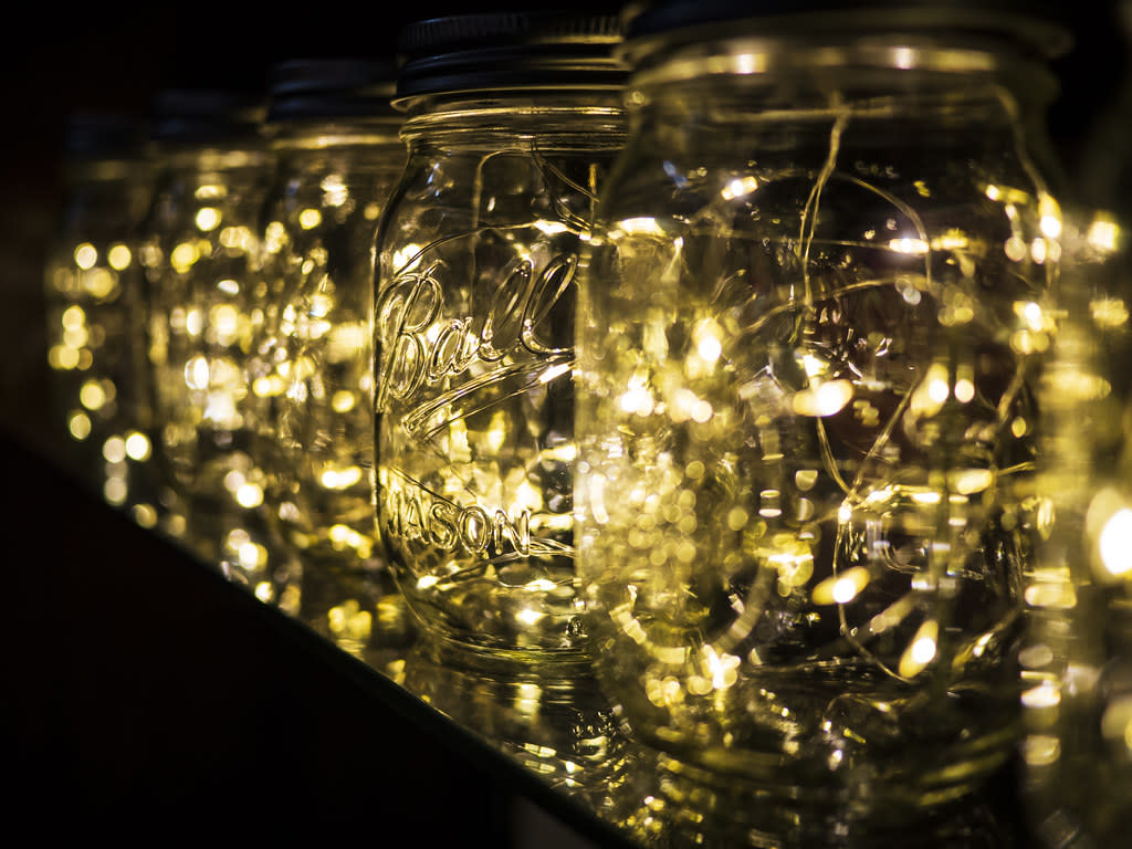 Another trend that's taking Interior Decoration by storm, Fairy Lights can transform your room from a basic room to a chic, romantic setting and create the perfect ambience for relaxation. The Project: When it comes to using fairy lights, there's no end to the number of possibilities. You could opt to line up your walls with Fairy Lights or keep Fairy Light Jars around your room. You could even choose to have the lights highlight certain mirrors or tables, as you desire. I personally love the idea of Fairy Light Jars because they're easy to move around and don't require too much maintenance. All you'll need to do is head out; get a jar and some fairy lights. Place the entire string of lights within the jar in coils and plug them on. Welcome the magic into your space!