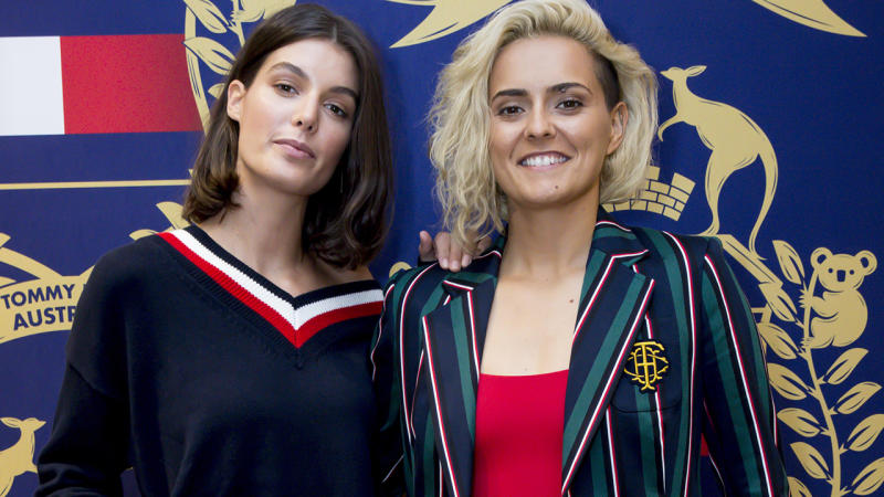 Isabella Carlstrom and Moana Hope, pictured here at the Tommy Hilfiger Emporium Melbourne Store Opening in November.