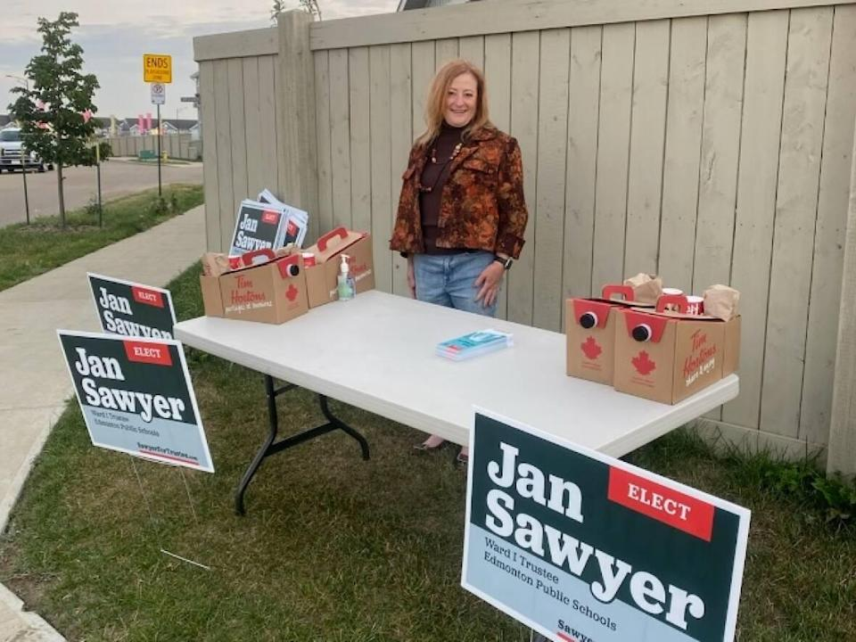 Jan Sawyer said four voters contacted her about receiving the wrong public school board ballot at advance polls this week. (Jan Sawyer - image credit)