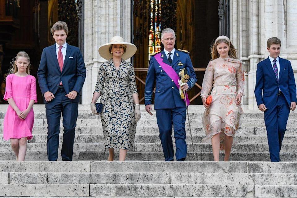 <p>The royals coordinated their outfits well: lots of navy, pinks, and neutrals.</p>