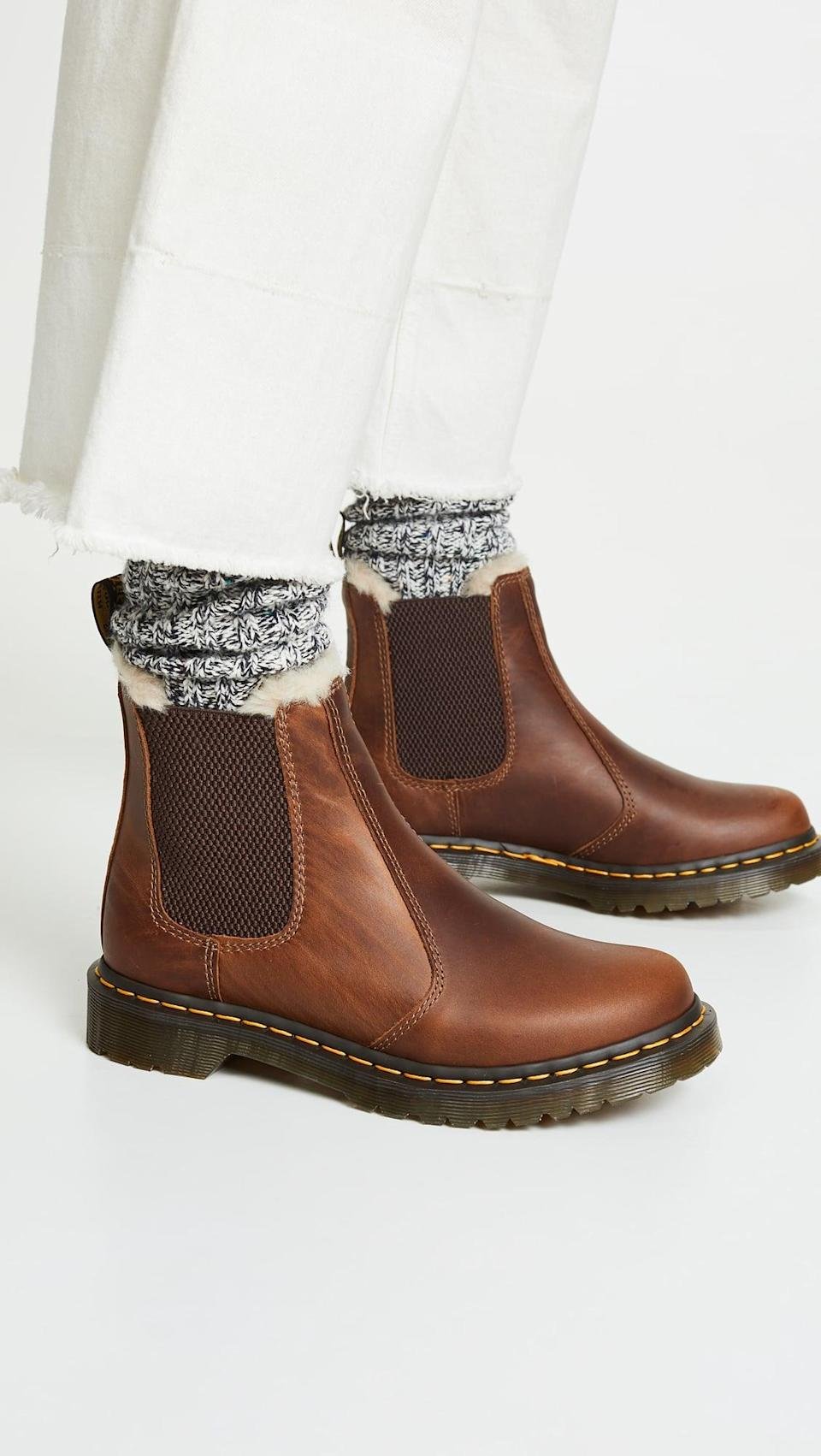 <p>You can't go wrong with the customer favorite <span>Dr. Martens Leonore Sherpa Chelsea Boots</span> ($160). Plus, we adore the fuzzy inside for all-day warmth and comfort.</p>