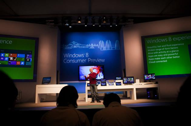 Steven Sinofsky, president of Windows and Windows Live attends the Windows 8 Consumer Preview presentation.