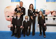 <p>Alec and Hilaria Baldwin and their children - Rafael, Eduardo, Leonardo, Romeo, Lucia and Carmen - attend <em>The Boss Baby: Family Business</em> premiere at SVA Theater on June 22 in N.Y.C.</p>