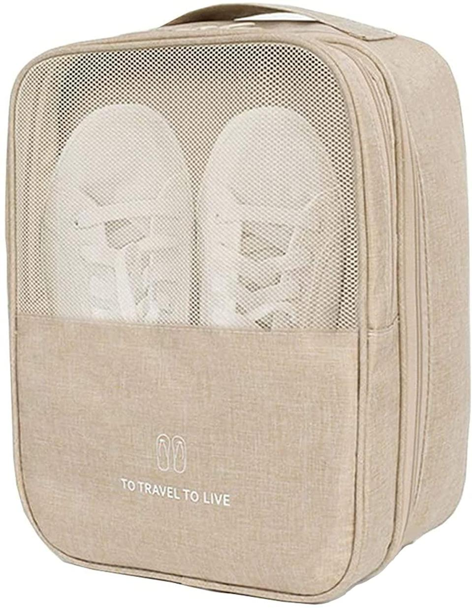 <p>Whether you go to the gym or love to travel, the <span>Cinlitek Travel Shoe Bag</span> ($14) will come in handy. It's waterproof and holds three pairs of shoes.</p>