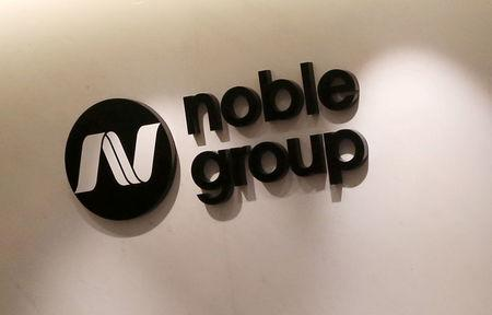 FILE PHOTO: Company logo of Noble Group at headquarters in Hong Kong