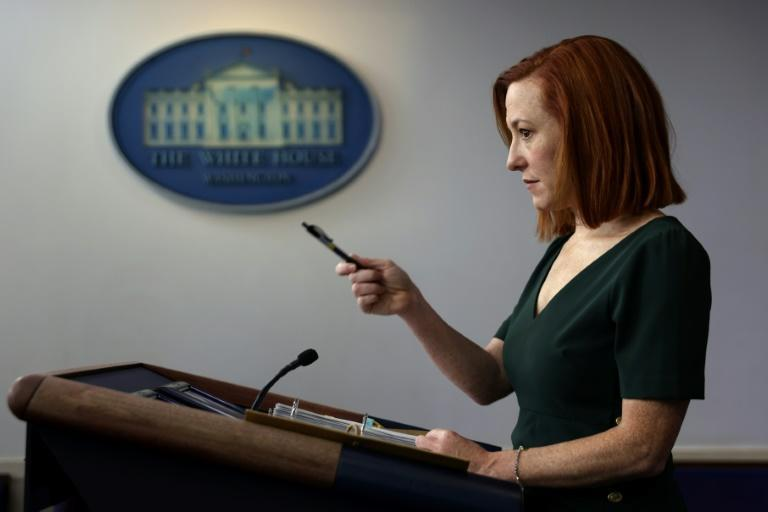 White House Press Secretary Jen Psaki said the US was sending an 'unambiguous message' with the air strikes