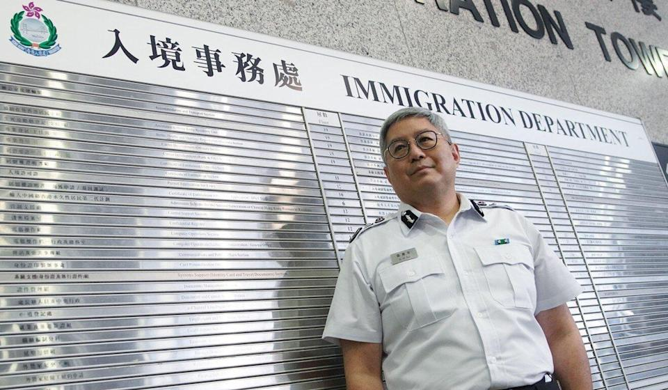 Immigration director Au Ka-wang was one of three government officials fined for breaking social-distancing regulations at the hotpot dinner. Photo: Winson Wong