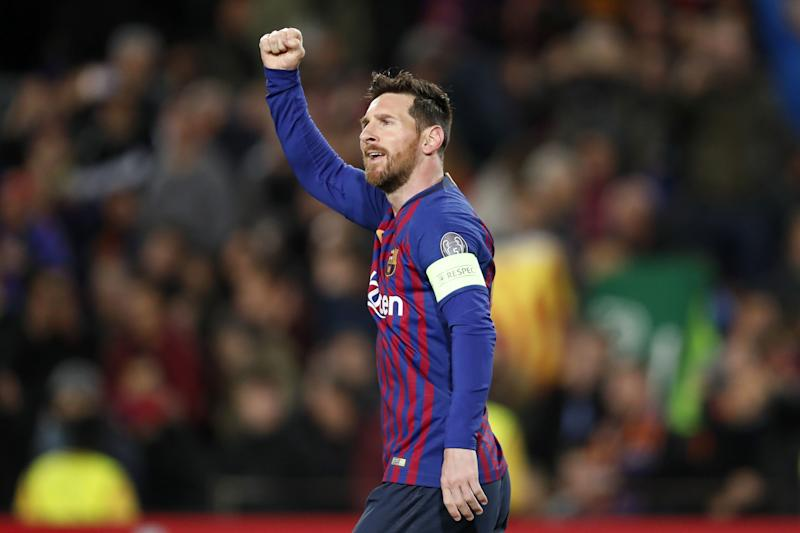 35f3c50bd04 Lionel Messi of FC Barcelona during the UEFA Champions League round of 16  match between FC
