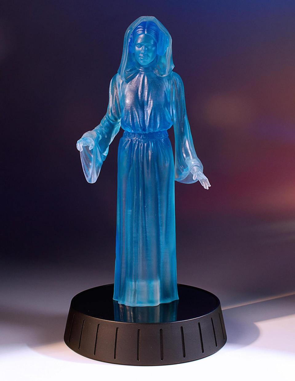 """<p>This statue lights up and plays the classic """"Help me, Obi-Wan Kenobi"""" line from <a rel=""""nofollow"""" href=""""https://www.yahoo.com/movies/film/star-wars-a-new-hope"""" data-ylk=""""slk:A New Hope"""" class=""""link rapid-noclick-resp""""><em>A New Hope</em></a>. (Photo: Gentle Giant Ltd.) </p>"""