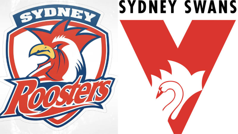 The Sydney Roosters and Sydney Swans, pictured here with the Opera House in their logos.