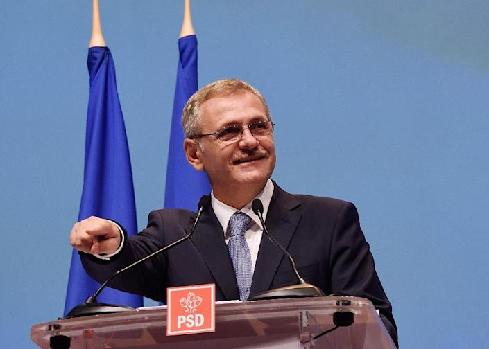Critics say one beneficiary of the contested corruption decree would be Liviu Dragnea, the head of the ruling Social Democrats, who is barred from serving in government because of a conviction for voter fraud and is on trial for alleged abuse of power (AFP Photo/DANIEL MIHAILESCU)