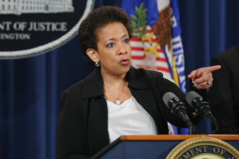 "U.S. Attorney General Loretta Lynch says corruption allegedly spans ""at least two generations of soccer officials"" (AFP Photo/Chip Somodevilla)"