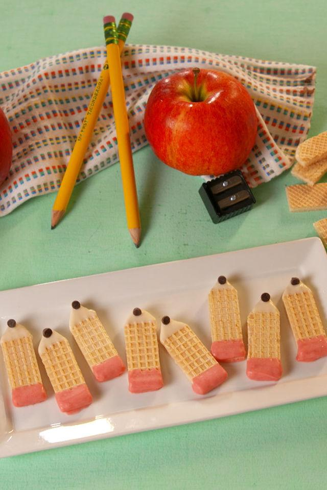 """<p>Writing utensils never looked so cute.</p><p>Get the recipe from <a rel=""""nofollow"""" href=""""http://www.delish.com/cooking/recipe-ideas/recipes/a55253/pencil-sugar-cookies-recipe/"""">Delish</a>.</p>"""