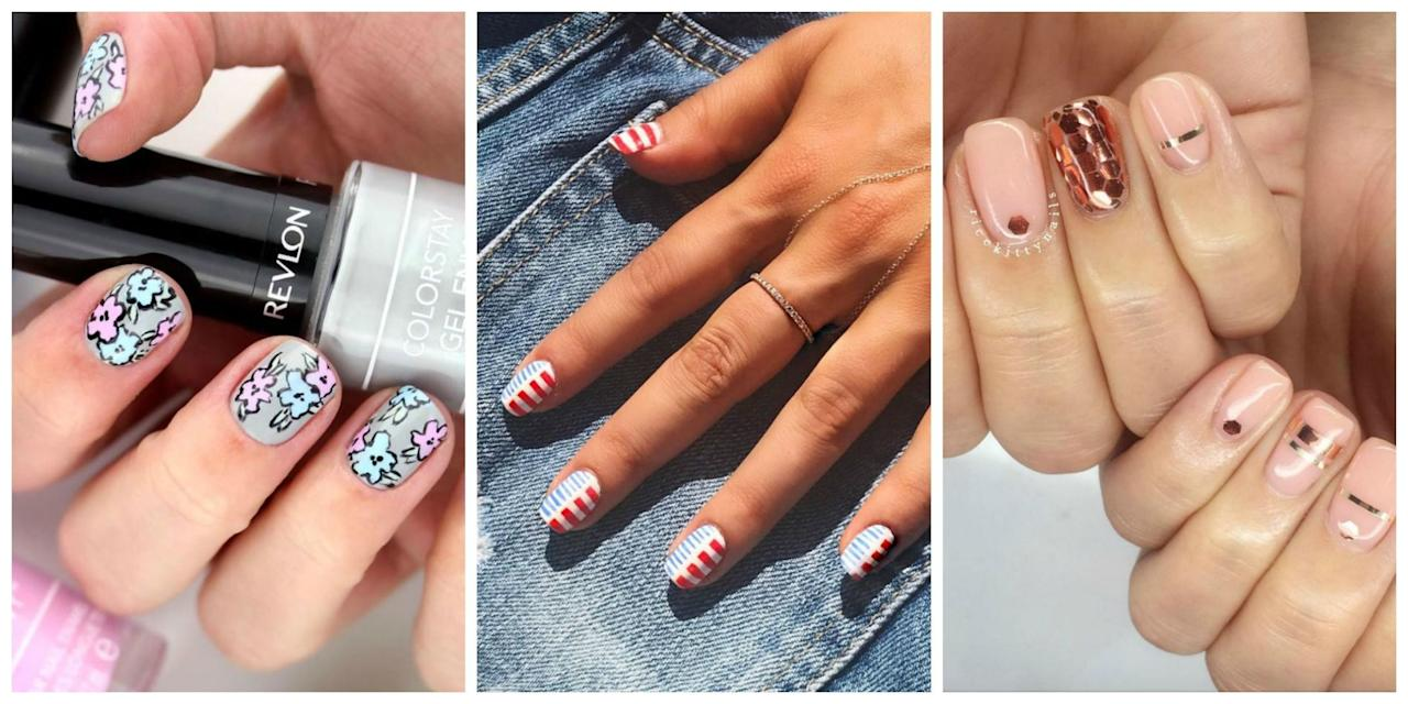<p>Beach days, BBQ, and bikinis are here. Stock up on some new polish, because you're going to want to show off these nail designs every day this season.</p>