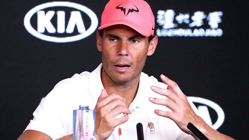Rafael Nadal, pictured here at the 2020 Australian Open.