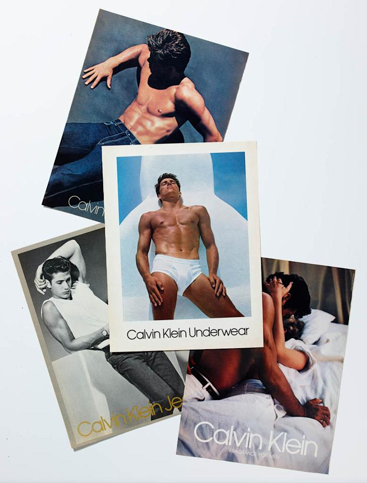 Calvin Klein underwear ads emerged in the 1980s.