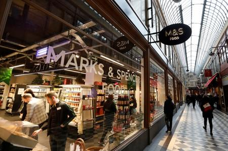 A Marks and Spencer store is seen in the covered Jouffroy passage in Paris