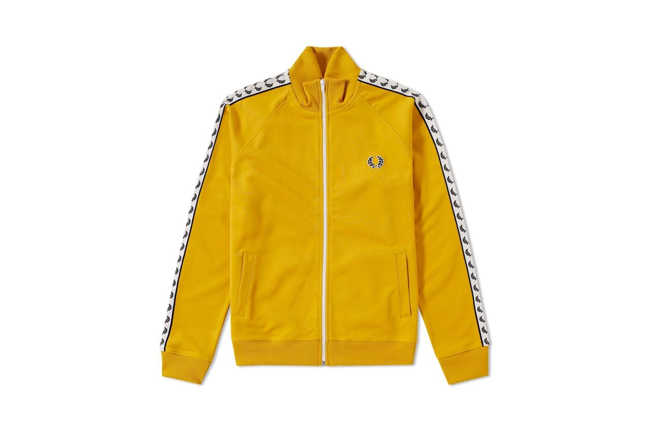 "<p>Kill two style trends at once as yellow is the color of the season, and track jackets are more popular than ever. — Jake Woolf</p><p><a rel=""nofollow"" href=""http://www.gq.com/gallery/10-track-jackets-thatll-make-you-feel-like-a-champ?mbid=synd_yahoostyle"">RELATED: 10 Track Jackets That'll Make You Feel Like a Champ</a></p><p><em>$95, buy now at <a rel=""nofollow"" href=""https://www.endclothing.com/us/fred-perry-laurel-taped-track-jacket-j6231-480.html?mbid=synd_yahoostyle"">endclothing.com</a></em></p>"