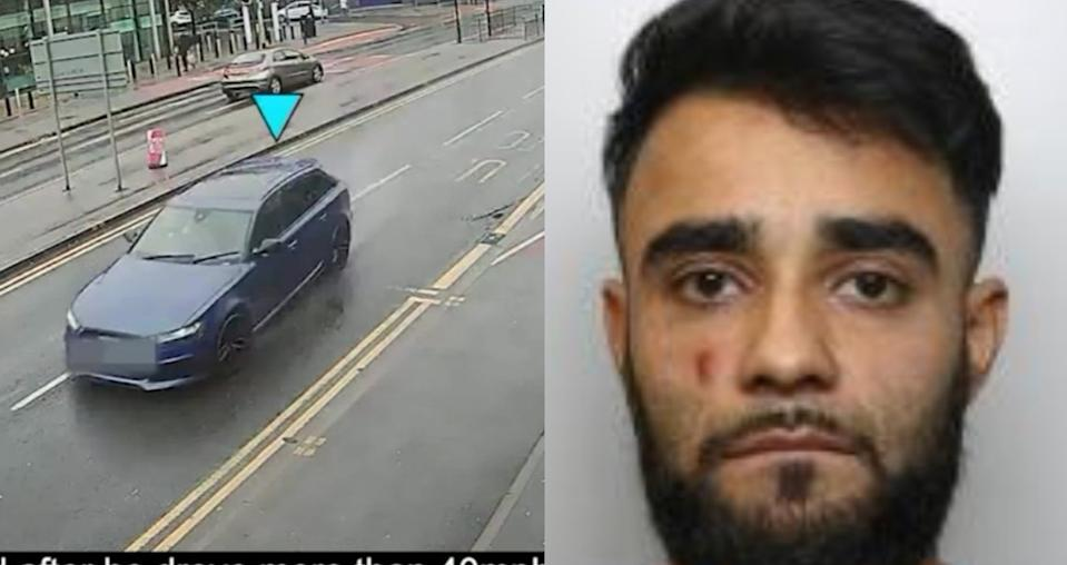 Kamran Khan, 29, was driving a high-performance Audi RS6 when he crashed. (SWNS)