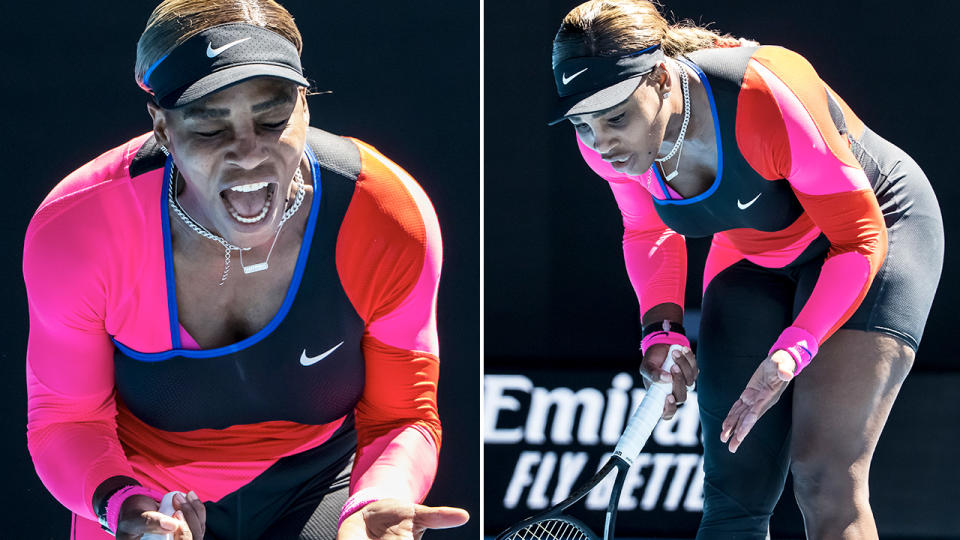 Serena Williams, pictured here in action against Naomi Osaka at the Australian Open.