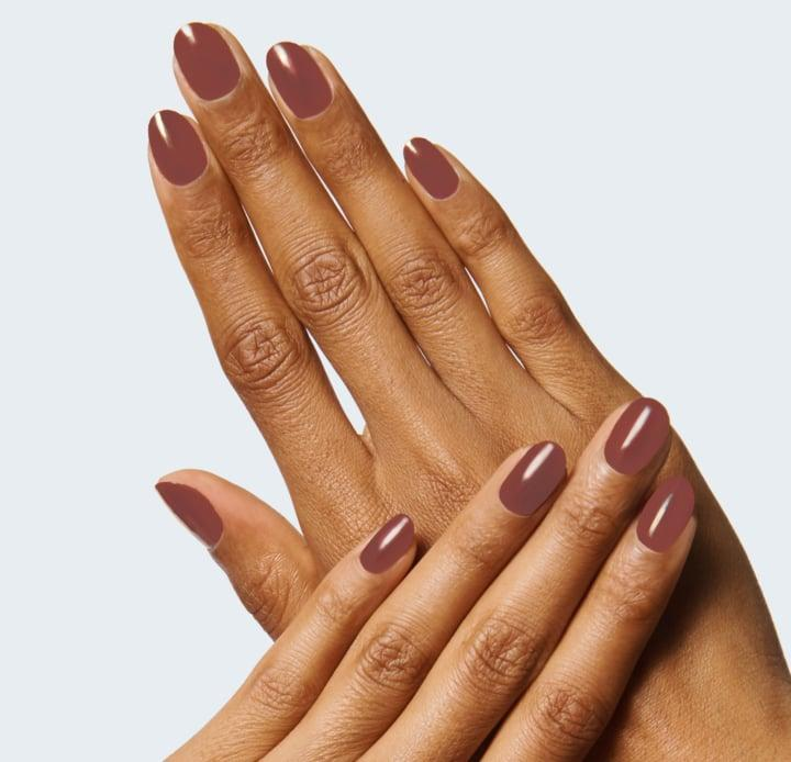 <p>The <span>Olive & June JJ Polish</span> ($8) is a cool brown that's so sophisticated.</p>