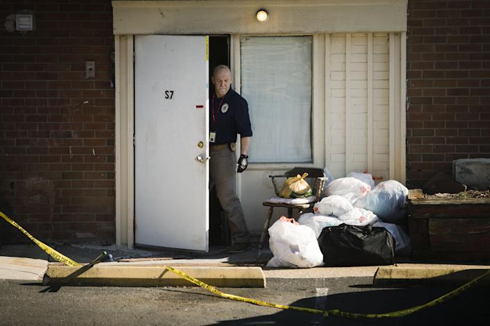 Authorities found the bodies of five of the family members of Shana Decree, 47, and her daughter Dominique Decree, 21, at Robert Morris Apartments in Morrisville, Pennsylvania, on Feb. 25, 2019.
