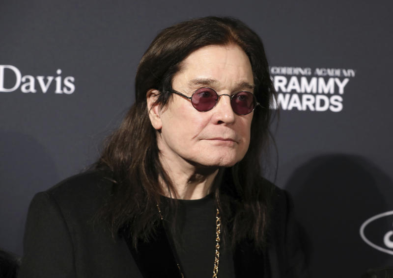 Ozzy Osbourne arrives at the Pre-Grammy Gala And Salute To Industry Icons at the Beverly Hilton Hotel on Saturday, Jan. 25, 2020, in Beverly Hills, Calif. (Photo by Mark Von Holden/Invision/AP)
