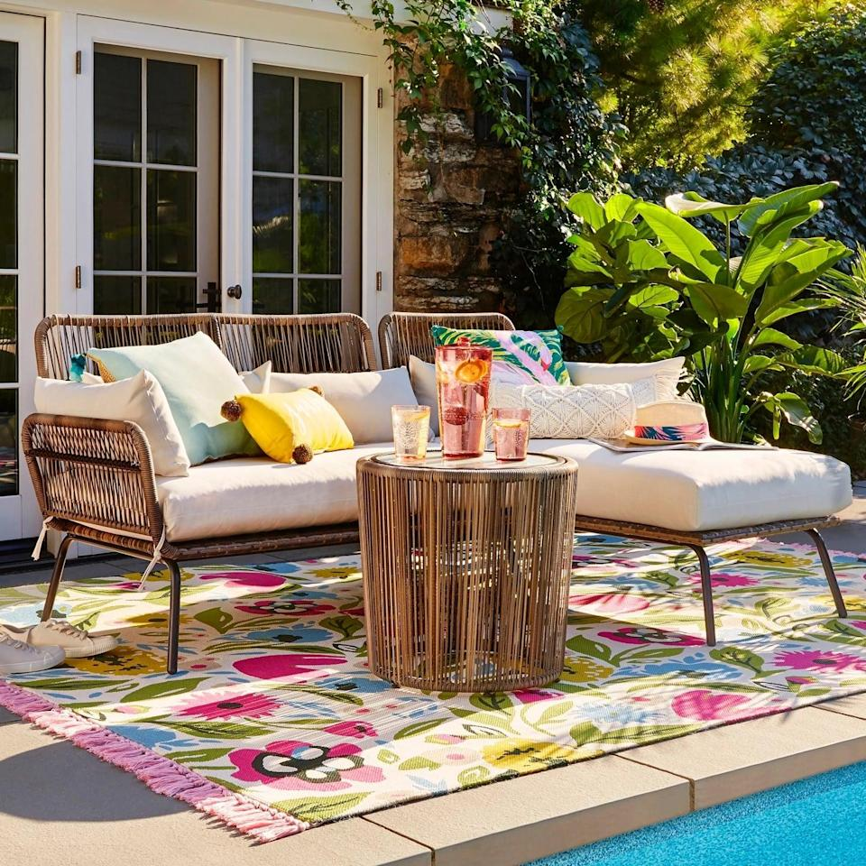 <p>There's room for everyone on the <span>Latigo Patio Sectional</span> ($700). Enjoy a day by the pool and never worry about a lack of seating with the sectional's functional shape.</p>