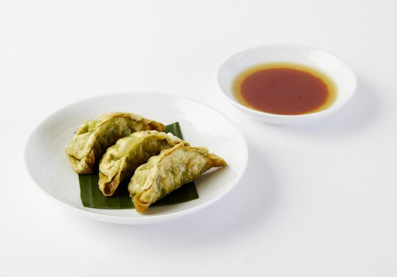 Green gyoza at YO! Sushi