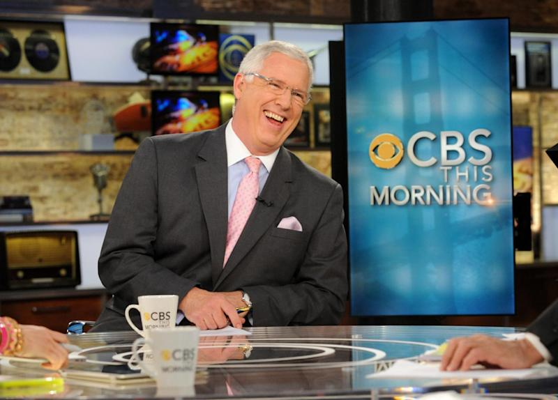 "This April 18, 2012 photo released by CBS shows John Miller on the set of ""CBS This Morning,"" in New York.  Miller, who appears primarily on ""CBS This Morning,"" reported two days after the Boston Marathon bombings that authorities had their eye specifically on someone seen by a store security camera. His dual role as a low-key explainer and reporter helped keep CBS ahead on key details of the investigation as the suspects' identities began to emerge, and away from missteps made by other news organizations. (AP Photo/CBS, Heather Wines)"