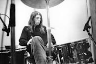 <p>Dave Grohl recording in Hilversum Studios in the Netherlands in 1991.</p>