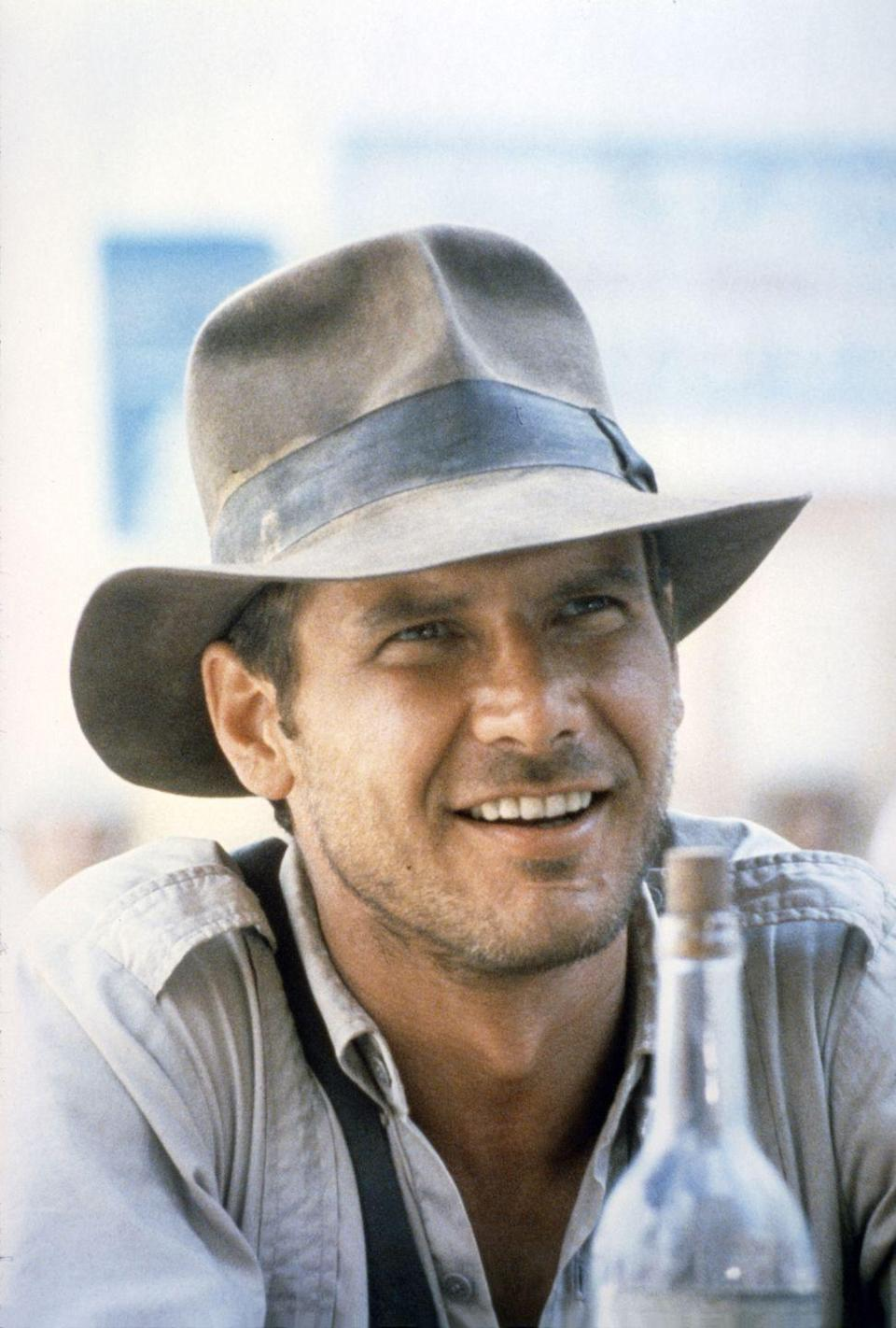 <p>Ford on the set of <em>Raiders of the Lost Ark</em>.</p>