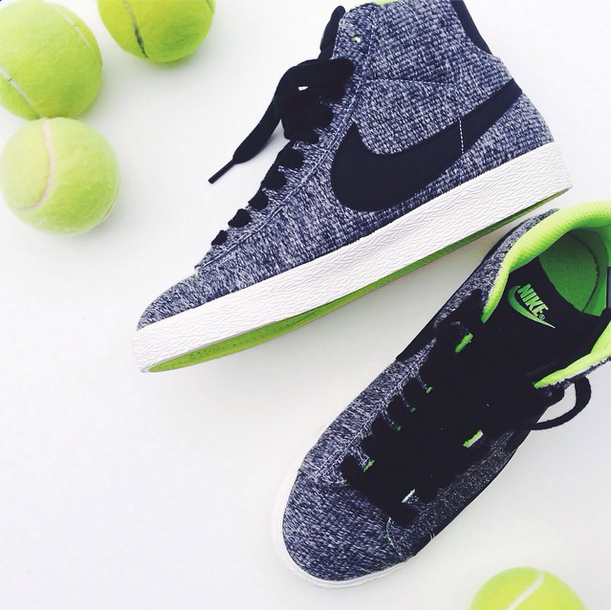 "<strong>1. Create a theme</strong>  Even if you're focusing a photo on a pair of shoes you want to show off, showing a related item will add the perfect extra something to your photo. We love how this blogger showed off her gray and neon green sneakers but added in the perfect touch of matching tennis balls to create a story and add a pop of color into her photo.  <em>Photo: Instagram/<a rel=""nofollow"" href=""http://instagram.com/bittersweetcolours"">@bittersweetcolours</a></em>"