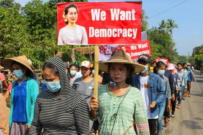 Anti-coup demonstrations have continued across Myanmar even as security forces have responded with lethal force