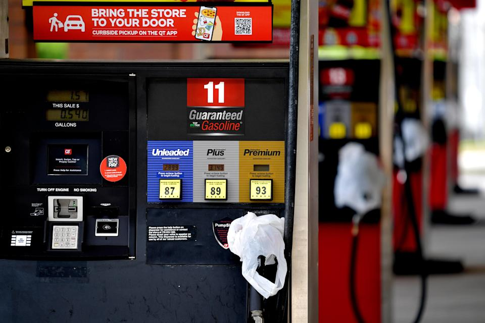 <p>Reports of the cyber attack on the Colonial Pipeline sparked a rush on gas by drivers who feared a shortage</p> (AP)