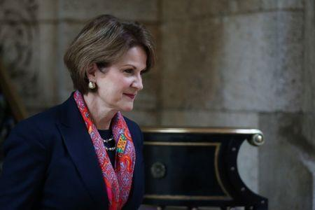 Lockheed Martin CEO Marillyn Hewson leaves after a meeting with U.S. President-elect Donald Trump at Mar-a-Lago estate in Palm Beach, Florida, U.S., December 21, 2016. REUTERS/Carlos Barria