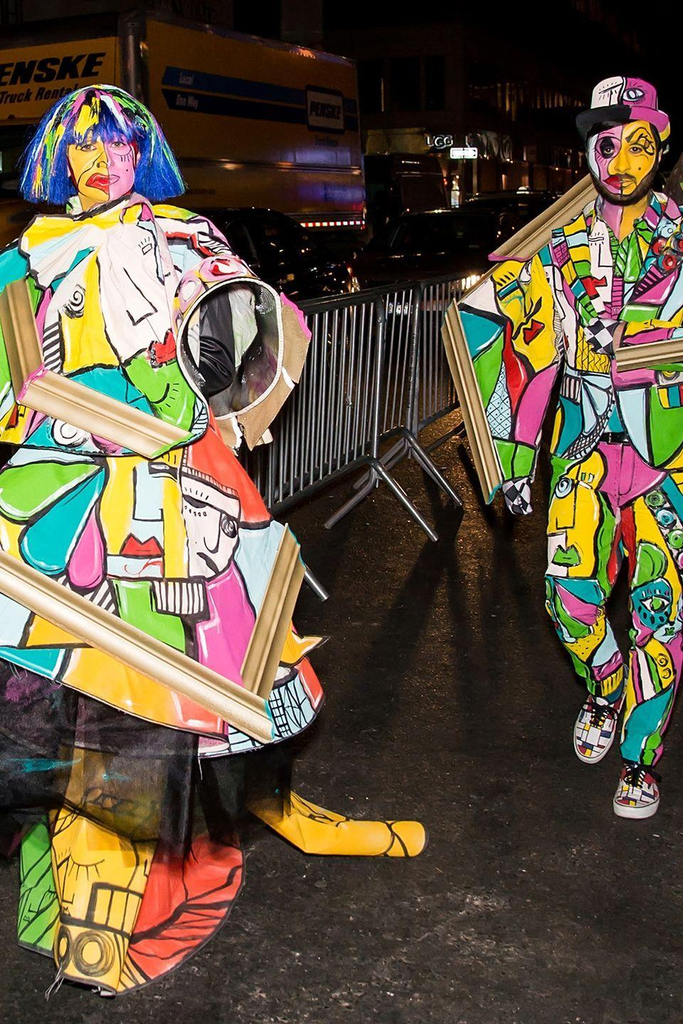 <p>In 2015, fashion designer Christian Siriano and singer/music producer Brad Walsh arrived at Heidi Klum's Halloween party at LAVO in New York City dressed up as works of art—Picasso style.</p>