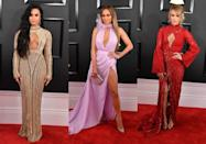 <p>As an alternative way to show off their assets some celebs have opted for the keyhole cut-out. J Lo absolutely werked it in this Ralph & Russo dress. [Photo: Getty] </p>