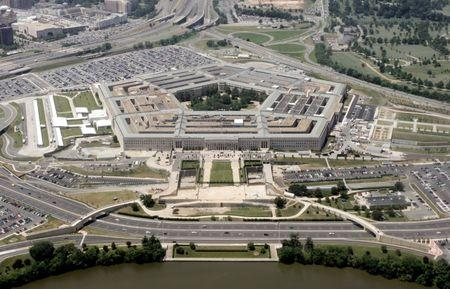 FILE PHOTO: An aerial view of the Pentagon building in Washington