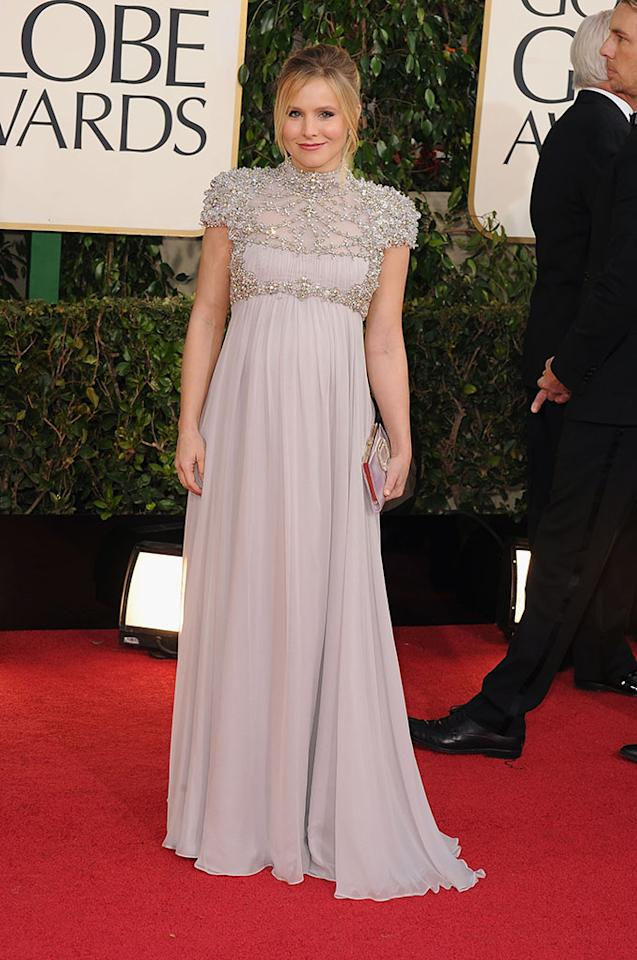 Kristen Bell arrives at the 70th Annual Golden Globe Awards at the Beverly Hilton in Beverly Hills, CA on January 13, 2013.