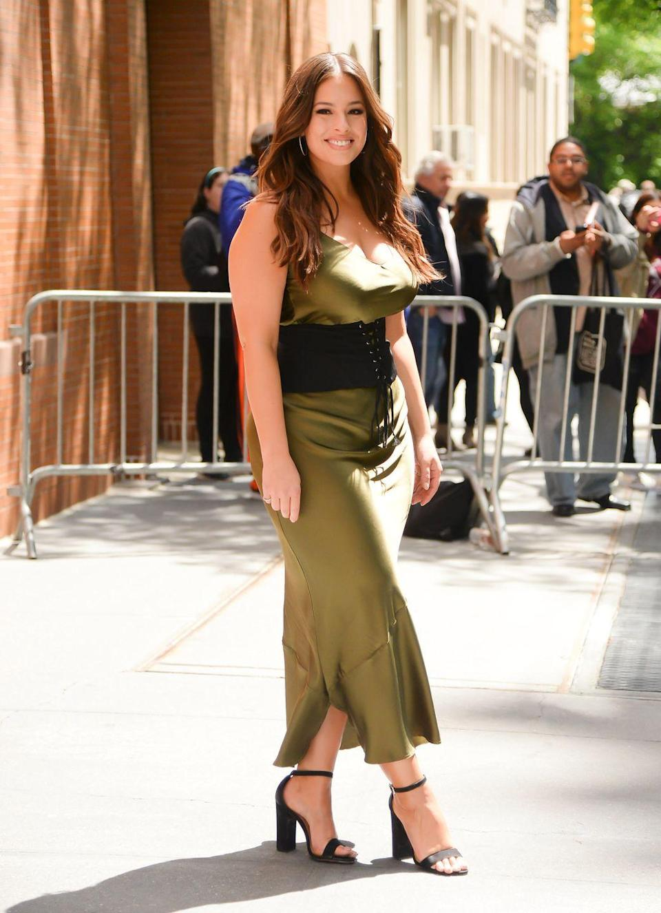 <p>Out in New York: Just look how it complements her fancy dresses.</p>