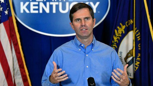 PHOTO: Kentucky Governor Andy Beshear addresses the media following the return of a grand jury investigation into the death of Breonna Taylor at the Kentucky State Capitol in Frankfort, Ky., Sept. 23, 2020. (Timothy D. Easley/AP, FILE)