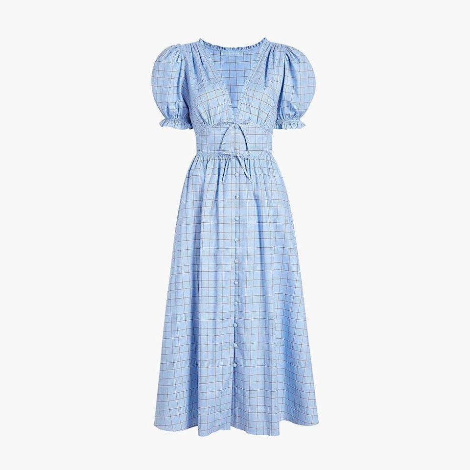"$150, HILL HOUSE HOME. <a href=""https://www.hillhousehome.com/products/the-sabrina-nap-dress-diana-check"" rel=""nofollow noopener"" target=""_blank"" data-ylk=""slk:Get it now!"" class=""link rapid-noclick-resp"">Get it now!</a>"