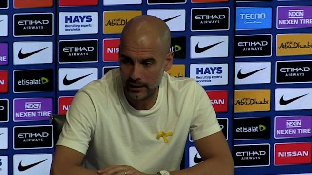 Manchester City manager Pep Guardiola pre match press conference v Swansea - SUBJECT: Iniesta