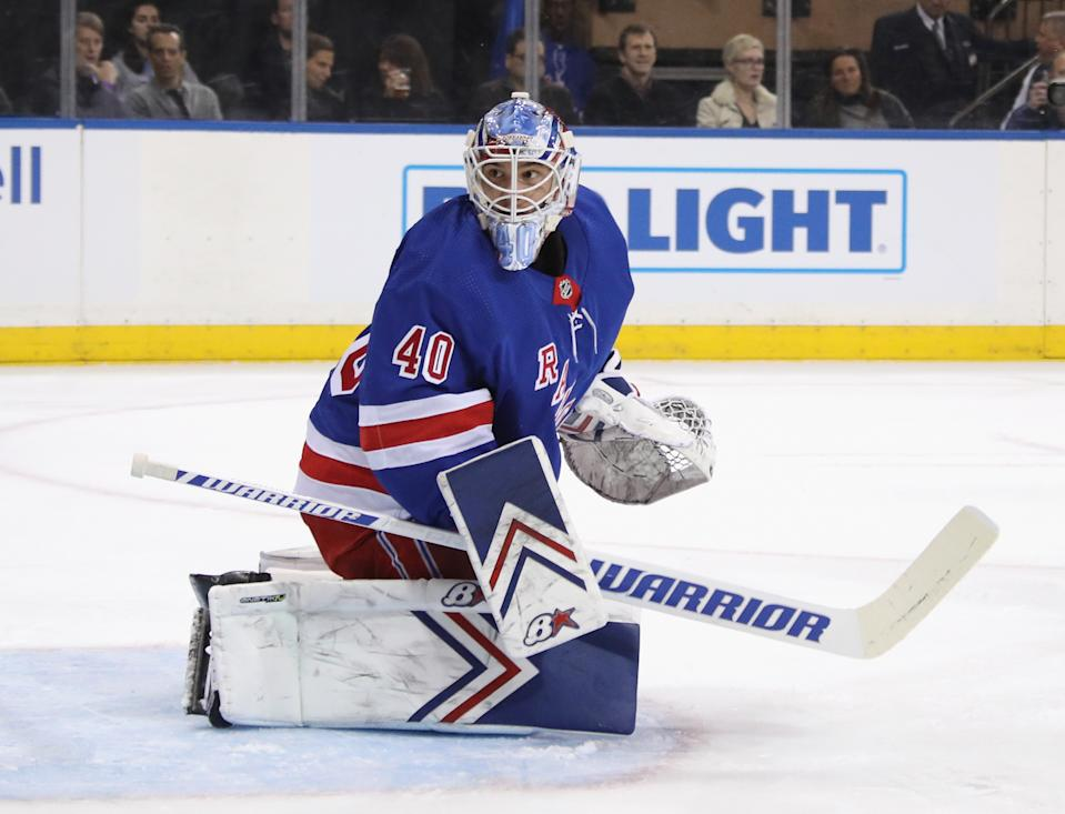 Alexandar Georgiev #40 of the New York Rangers