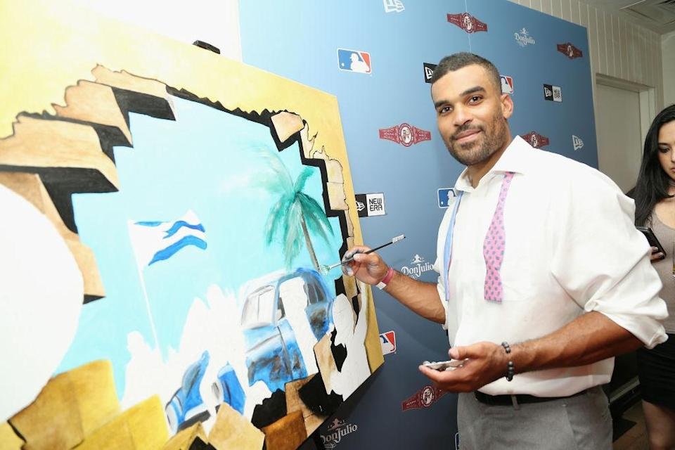 Micah Johnson at an All-Star exhibit in July. (Getty)