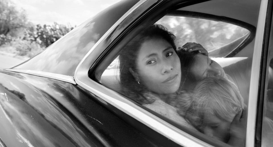 """<p>Set in the early 1970s in Mexico City, <strong>Roma</strong> is a semibiographical take on the life of Oscar-winning director Alfonso Cuarón (who also produced, coedited, and shot the film), following a formative year in the life of a middle-class family and their live-in housekeeper. It's not only a gorgeous film - it's also a total heartbreaker. </p> <p><a href=""""http://www.netflix.com/title/80240715"""" class=""""link rapid-noclick-resp"""" rel=""""nofollow noopener"""" target=""""_blank"""" data-ylk=""""slk:Watch Roma on Netflix"""">Watch <strong>Roma </strong>on Netflix</a>.<br></p>"""