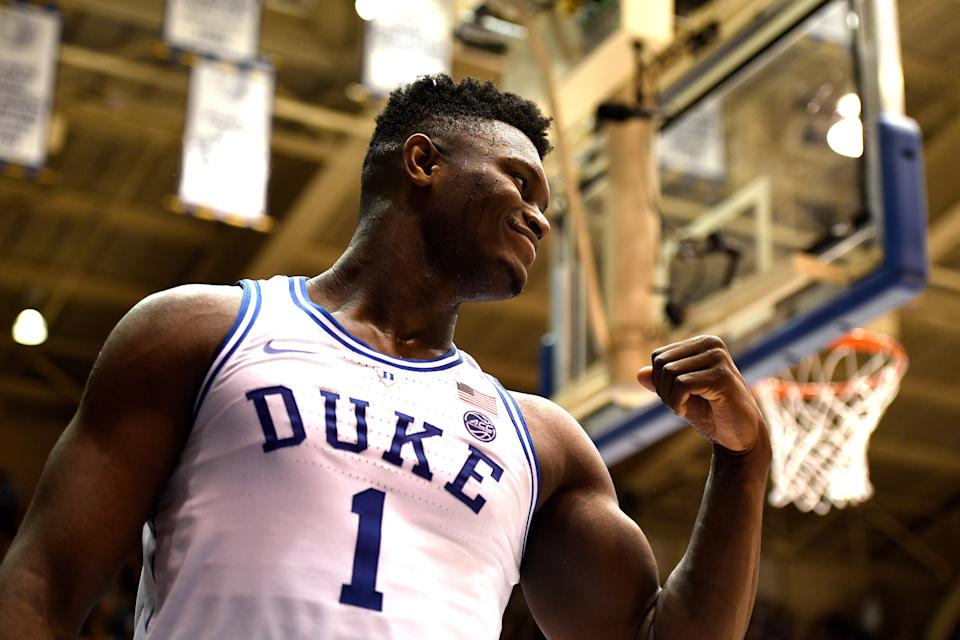 Is a starring role in a Duke-Carolina classic the next chapter in Zion Williamson's basketball story? (Getty)